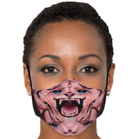 Wild Cat - Face Mask - psychedelic art