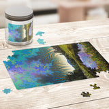 Wonderland Pond - Jigsaw Puzzle - psychedelic art