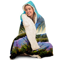 Wonderland Pond  - Hooded Blanket - psychedelic art