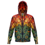Animal Spirit Tree - Zip Up Hoodie - psychedelic art