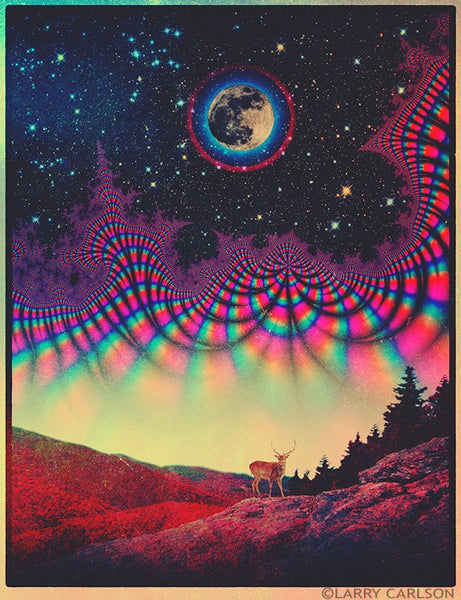 Full Buck Moon - psychedelic art