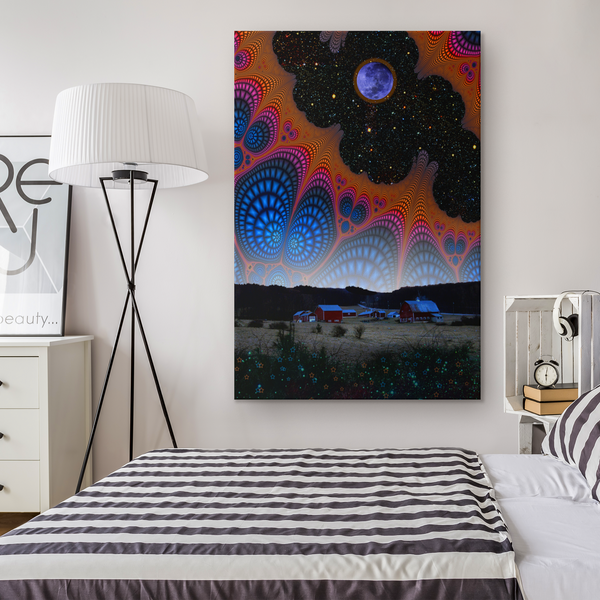 Nightfall at the Edge of the Universe - Canvas - psychedelic art