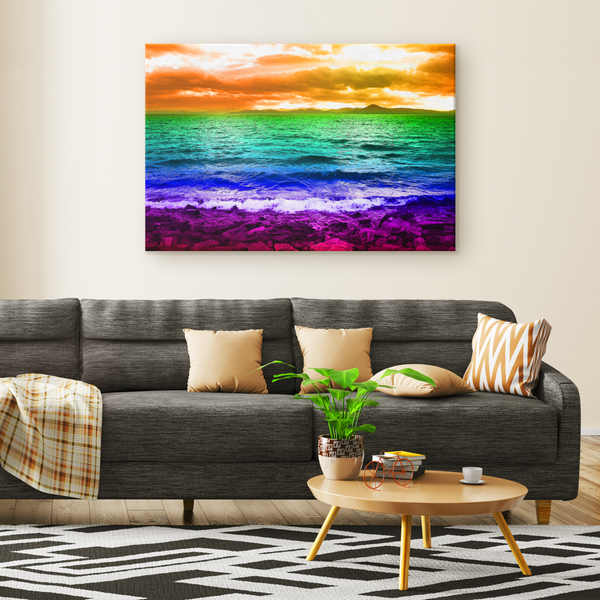 Rainbow Sea - Canvas - psychedelic art