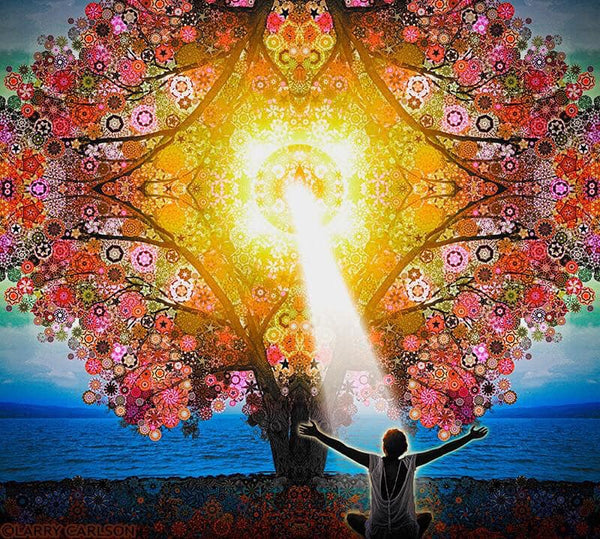 Star Tree Blessings - psychedelic art