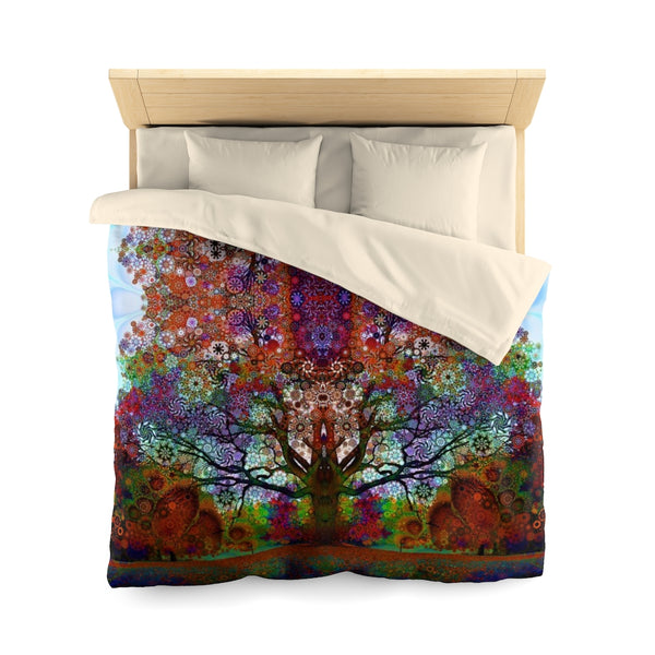 Trip Tree - Microfiber Duvet Cover - psychedelic art
