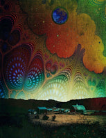 Nightfall at the Edge of the Universe Two - psychedelic art