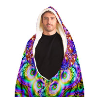 Psychonaut  Supreme - Hooded  Blanket - psychedelic art