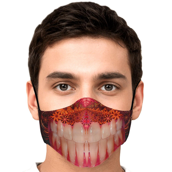 Crazy Mouth - Face Mask - psychedelic art