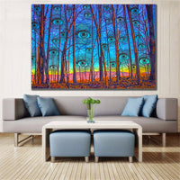 Woods Has Eyes - Canvas - psychedelic art