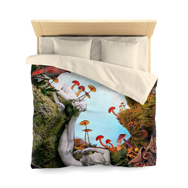 Help on the Way - Microfiber Duvet Cover - psychedelic art
