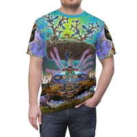 Centro Tree - Unisex T-Shirt - psychedelic art