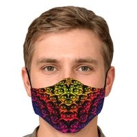 Rainbow Eyes - Face Mask - psychedelic art