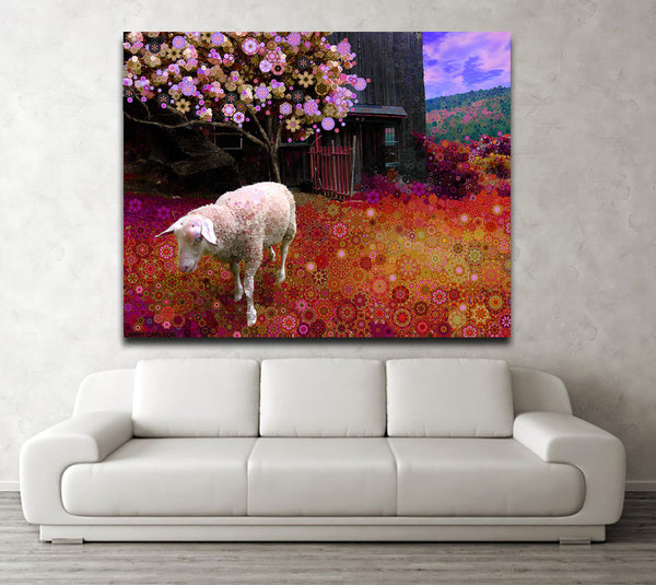 Maple Hill Sheep - Canvas - psychedelic art