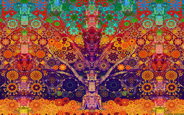 Animal Spirit Tree - psychedelic art