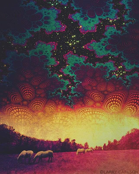 White Horses - psychedelic art