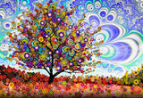 Paradise Tree - Canvas - psychedelic art