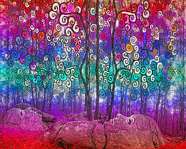 Scribble Forest - psychedelic art