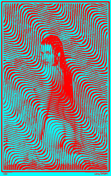 Wavy 19 - Red Blue Edition - psychedelic art