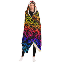Eyes of the World  - Hooded Blanket - psychedelic art