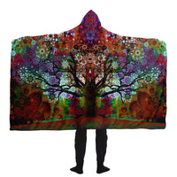 Trip Tree - Hooded Blanket - psychedelic art