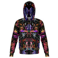 Interstellar Echolocation - Zip Up Hoodie - psychedelic art