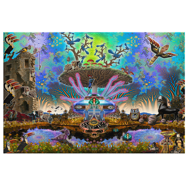 Centro Tree - Canvas - psychedelic art