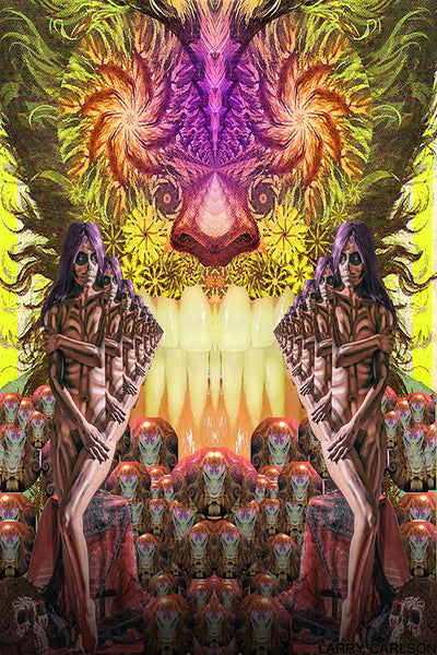 Echo in the Skulls - psychedelic art