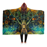 Animal Spirit Tree -Hooded Blanket - psychedelic art