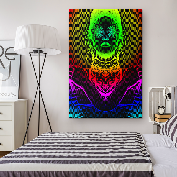 Hathor Rising - Canvas - psychedelic art