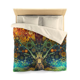 Animal Spirit Tree - Microfiber Duvet Cover - psychedelic art