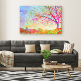 Star Tree on the Hill - Canvas - psychedelic art