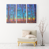 Woods Has Eyes - 3 Piece Canvas - psychedelic art