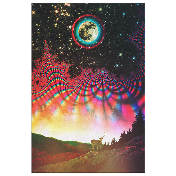 Full Buck Moon - Canvas - psychedelic art