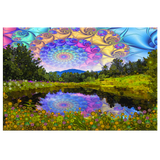 Sun Spiral Pond - Canvas - psychedelic art