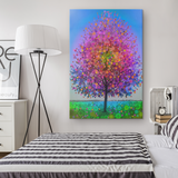 The Magic Rainbow Star Tree - Canvas - psychedelic art