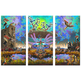 Centro Tree - 3 Piece Canvas - psychedelic art