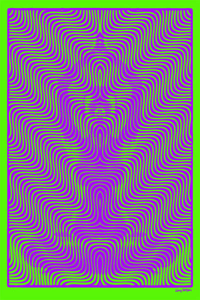 Medijate Vibrate - Purple Green Edition - psychedelic art