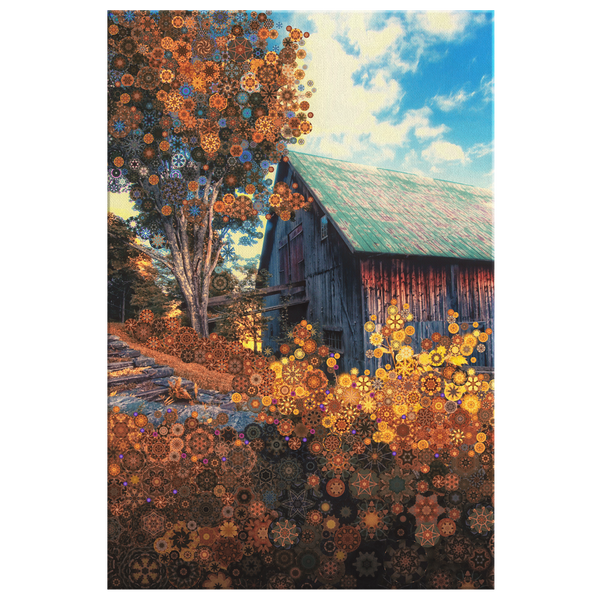 Maple Hill - Canvas - psychedelic art