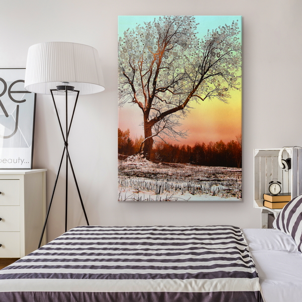 Winter Star Tree - Canvas - psychedelic art