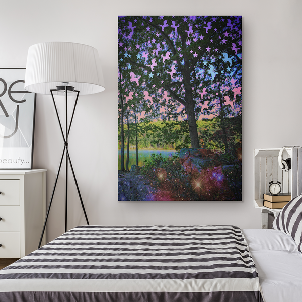 Unicorn Grove - Canvas - psychedelic art