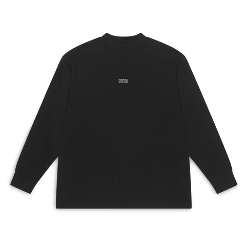 MOCK NECK LONG SLEEVE - BLACK