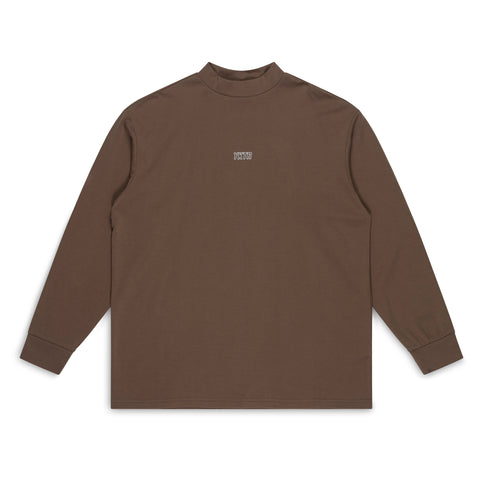 MOCK NECK LONG SLEEVE - BROWN