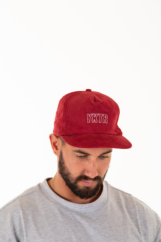 LACED CAP - BURGUNDY