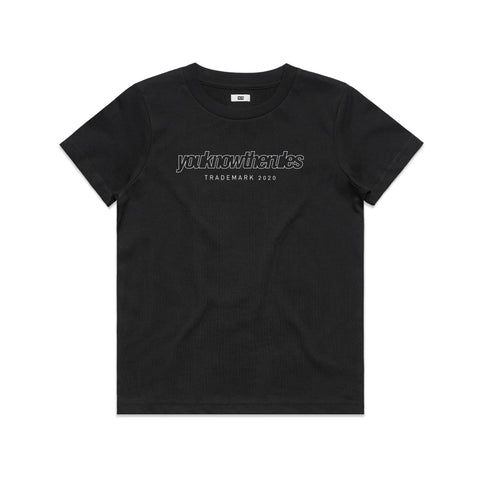 KIDS OUTLINER TEE - BLACK
