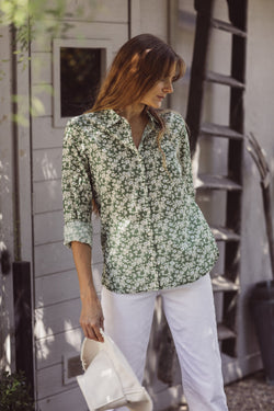 Grace Classic Shirt GREENBRIAR FLORAL