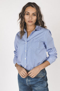 Grace classic shirt BLUE/WHITE STRIPE