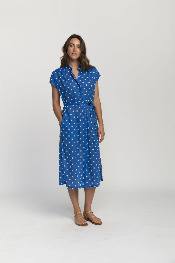 Astrid easy dress BLUE DOT