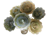 6 World Atlas Map Roses on Stems - 3 Inch Paper Flowers Bouquet