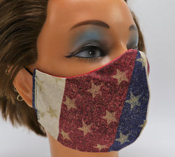 American Pride Washable Cloth Face Mask Reusable Cotton Facial Cover Travel Mask