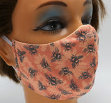 Honey Bee on Daisy Washable Cloth Face Mask, Reusable Cotton Facial Cover